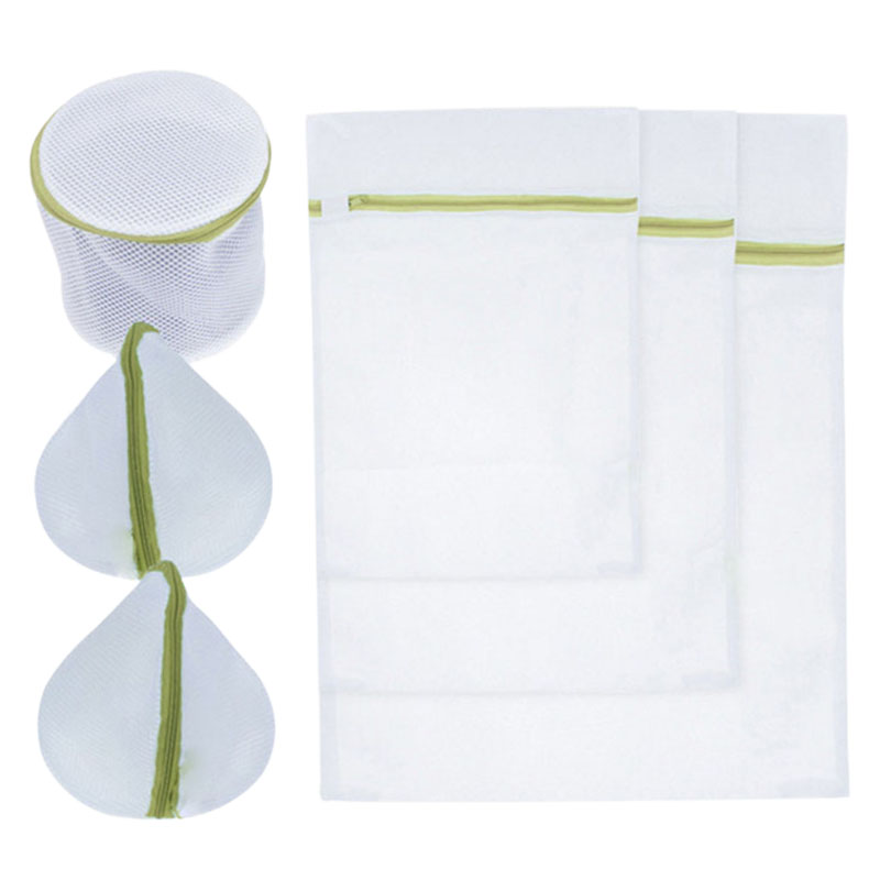 Useful Six-piece Underwear Bra Wash Bag Thickening Fine Mesh Laundry Bag Pure White Without Scratches