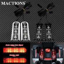 Motorcycle LED Inserts Saddlebag Filler Support Taillight Running Light For Harley Touring Electra Glide Road King CVO 2014 2020