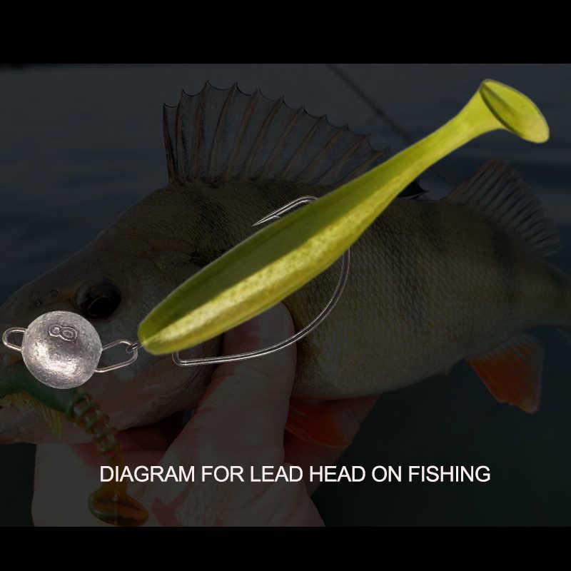 KESFISHING pêche plomb tête plombs 10 pièces leurre souple crochet Cheburashka Sinker Texas matériel de pêche accessoires
