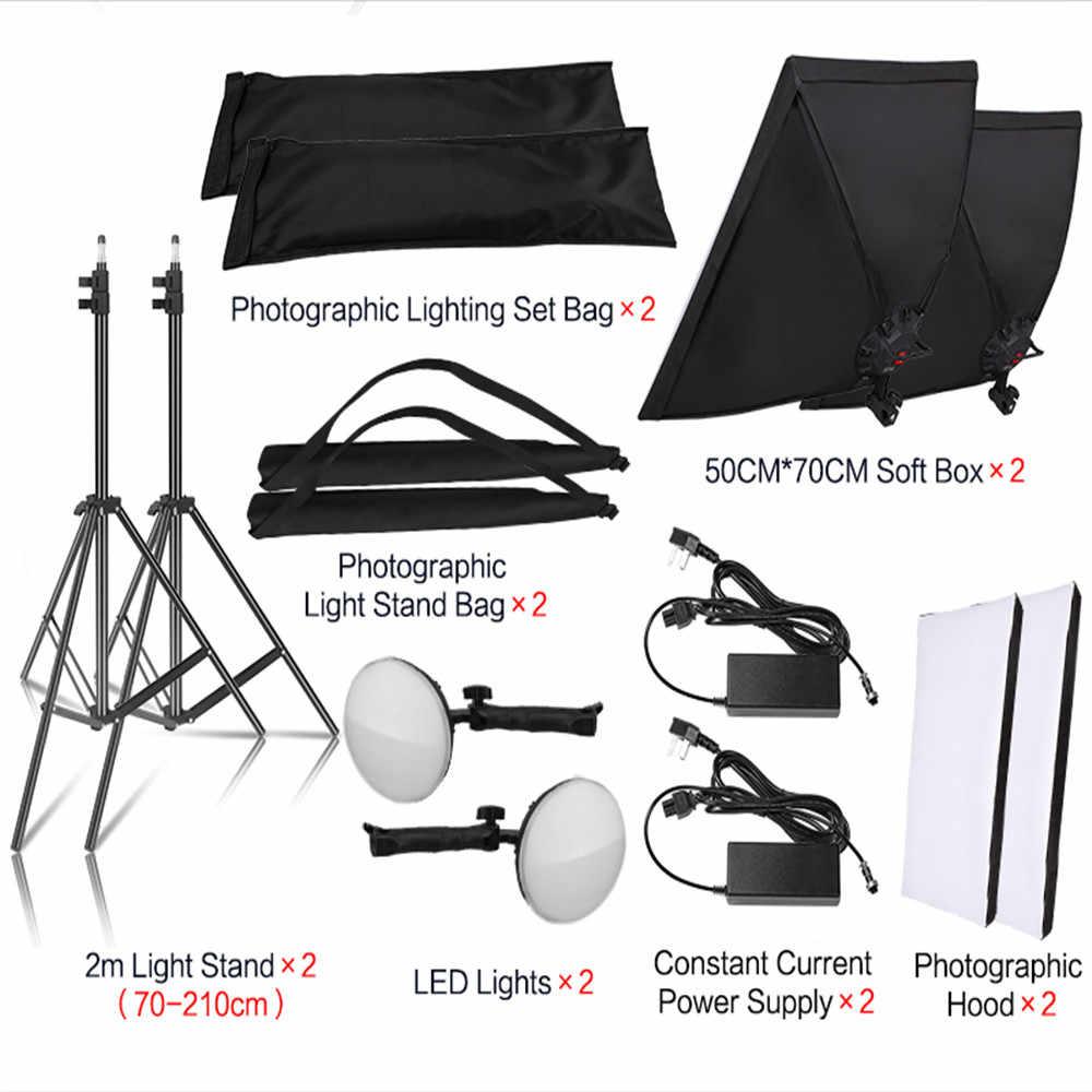 Fotografia 50x70CM LED koralik świetlny zestaw oświetlenia Softbox ciągły System oświetlenia akcesoria do aparatu do Photo Studio Video