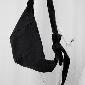 Image 2 - Lanmrem 2020 yamamoto estilo preto escuro único produto simples bolsa de ombro mensageiro cor sólida moda masculina e feminina 19b a242