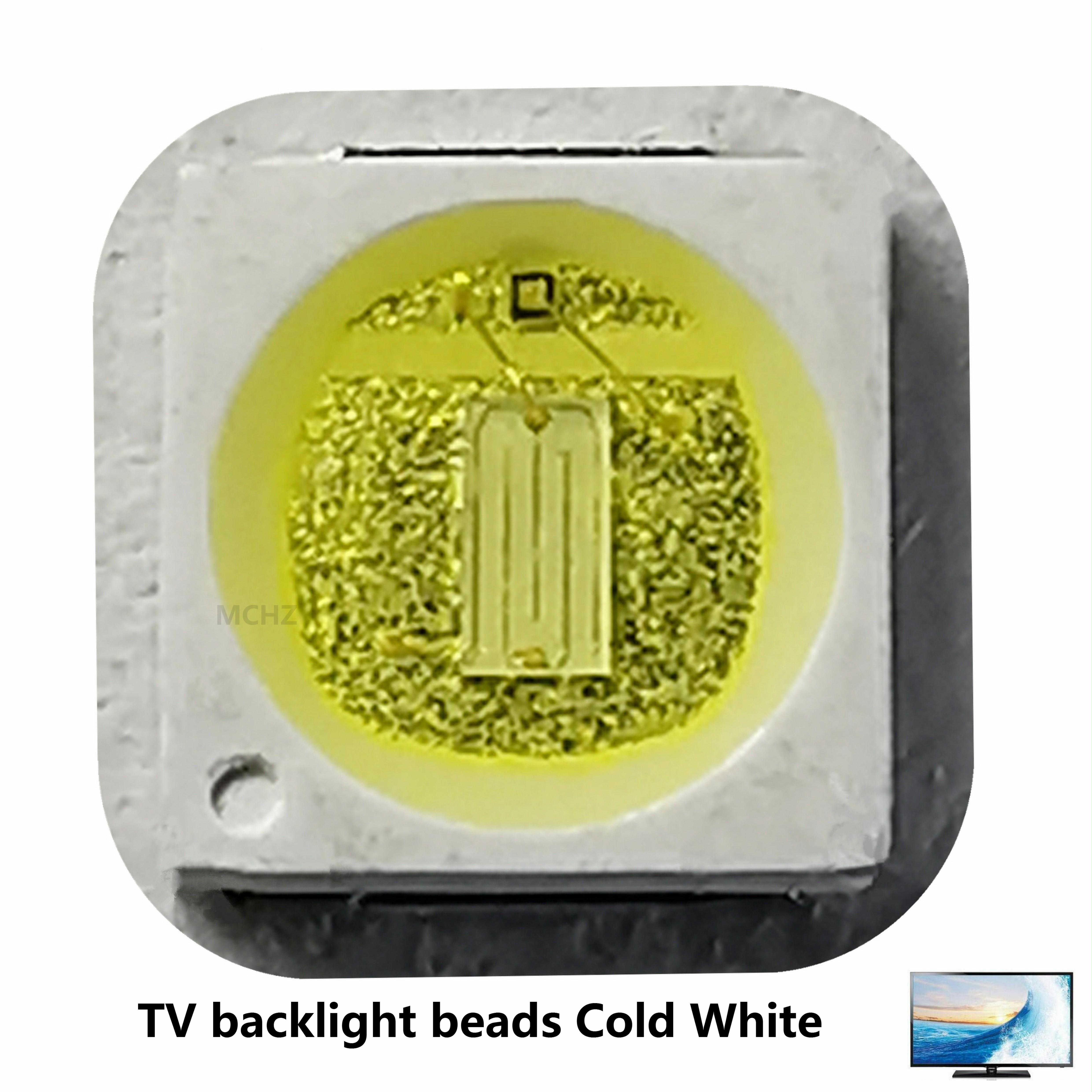 100 pces 3030 luz de fundo de alta potência led chips duplos 1.5 w 3 v-3.6 v lextar jufei aot branco fresco pt30a66 tv