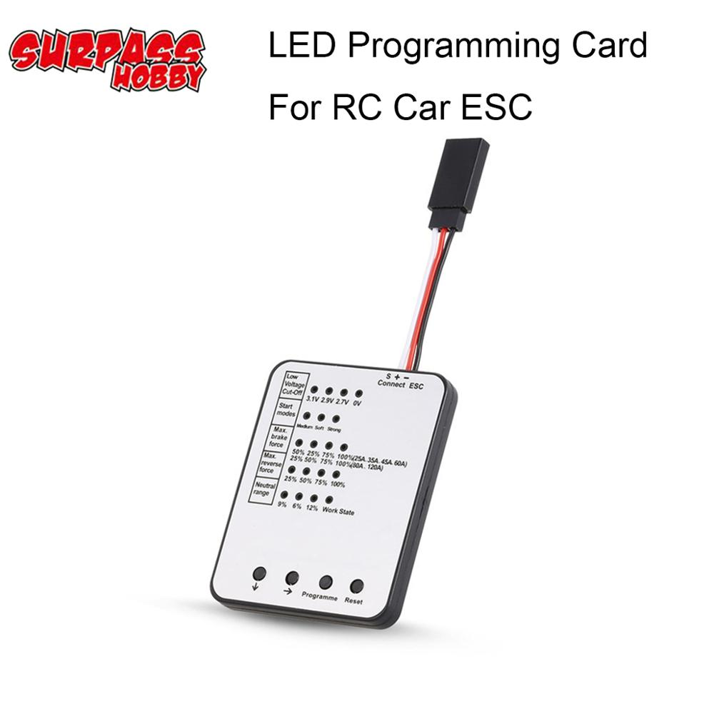 LED <font><b>ESC</b></font> Programming card Electronic Speed Controller Program for RC Car <font><b>25A</b></font>/35A/45A/60A/80A/120A/150A Brushless <font><b>ESC</b></font> image