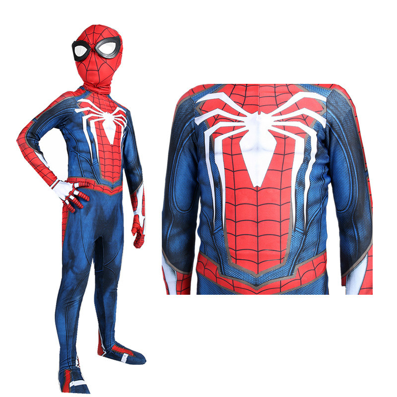 PS4 Game New Adult Child Jumpsuit Spider-Man Cosplay Costume Bodysuit Zentai Halloween Tight Costume