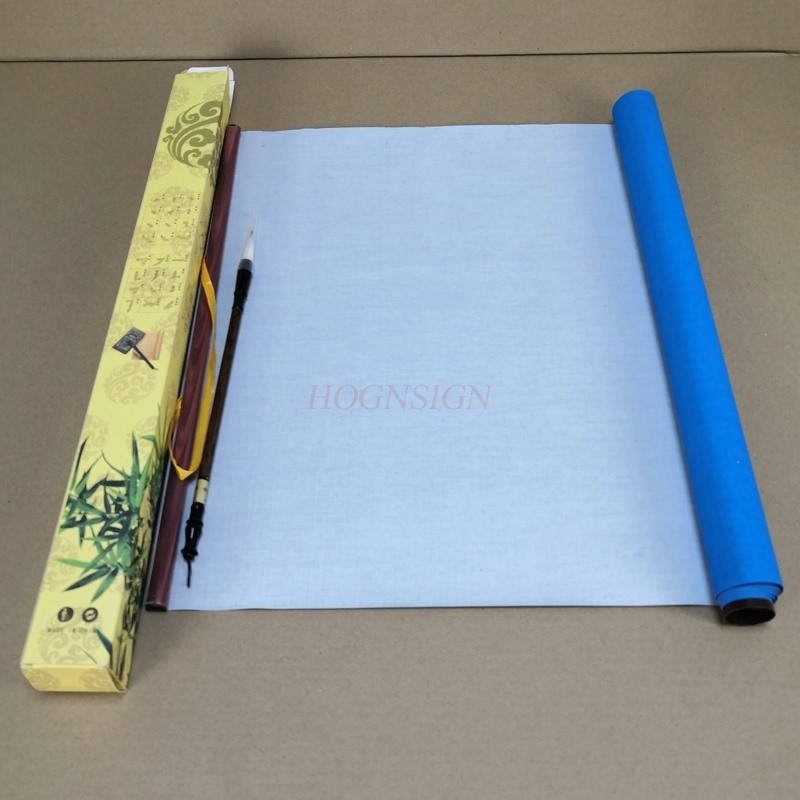 1.3M Water writing cloth Gift Reusable Chinese Magic Cloth Water Paper Calligraphy Fabric Book Notebook