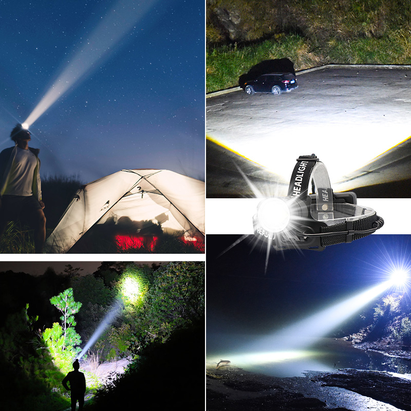Image 5 - 100000LM Super Bright XHP70.2 USB Rechargeable Led Headlamp XHP70 Headlight Hunting Cycling Lanterna Waterproof Use 3x18650-in Headlamps from Lights & Lighting