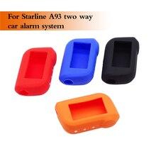 1 pçs caso chave do carro silicone para starline a93 a63 a39 a36 a96 a66 capas eco em dois sentidos sistema de alarme do carro lcd remoto controlador capa