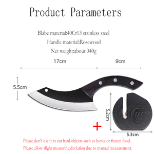 Image 2 - Handmade Chef Knife Clad Forged Steel Boning Slicing Butcher Kitchen Knives Meat Cleaver Kitchen Tools