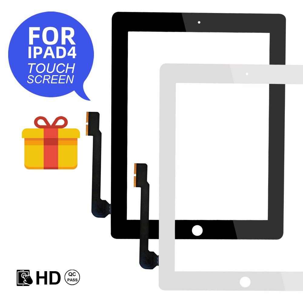 Dla Apple iPad 4 A1458/A1459/A1460 ekran dotykowy wymiana Digitizer czujnik szklany Panel nowy LCD zewnętrzny