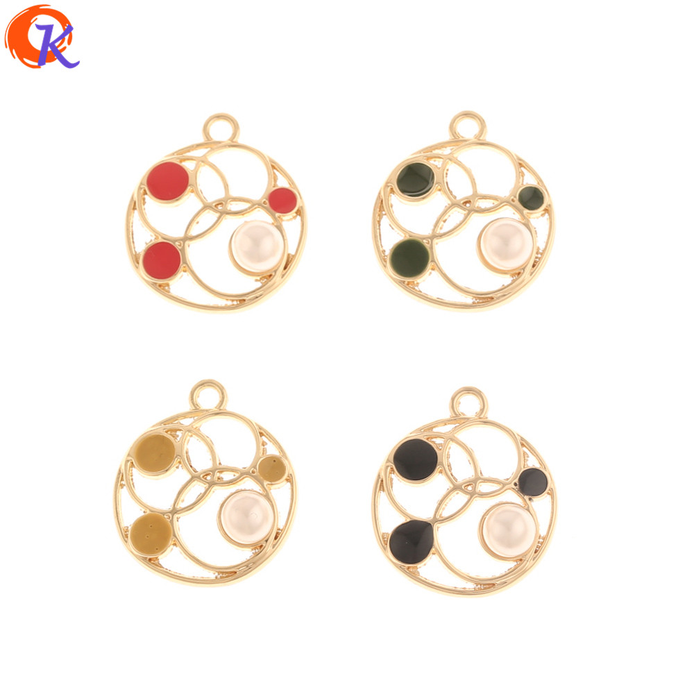 Cordial Design 100Pcs 18*21MM Jewelry Accessories/DIY Making/Paint Effect/Imitation Pearl/Hand Made/Earring Findings/Charms