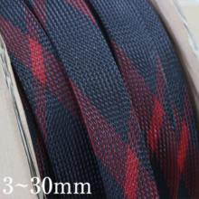 Черно красная плотная плетеная ПЭТ проволочная втулка высокой