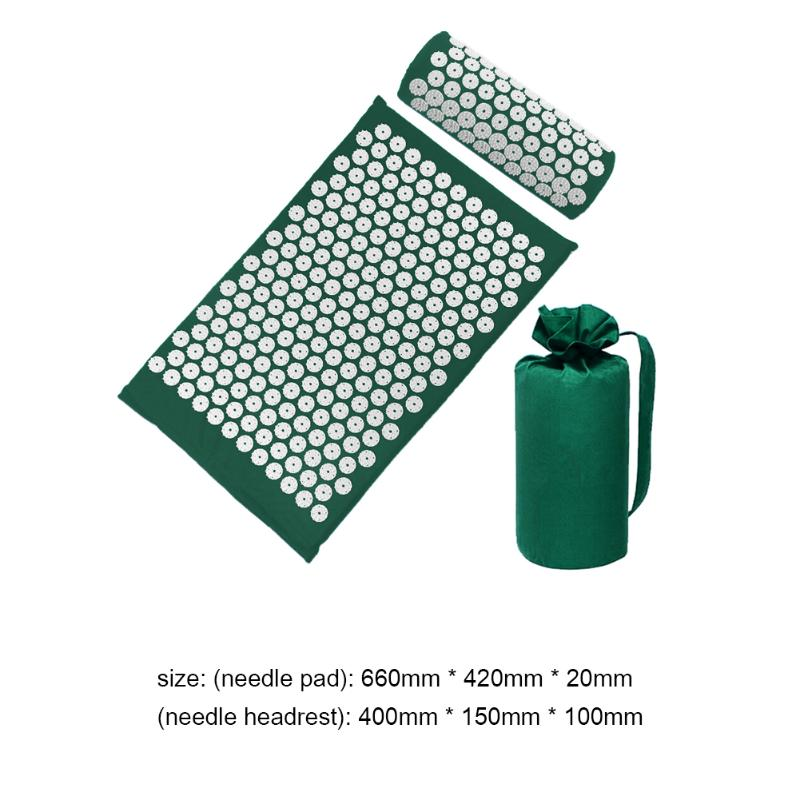 Acupressure Massage Mat with Pillow set to body Relaxation to Release Stress and Tension 33