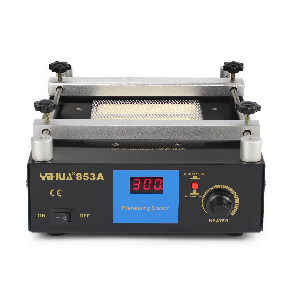 YIHUA 853A BGA Rework Station Digital Display Preheating Station Anti Static Constant Temperature