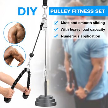 Bandas Elasticas Fitness Equipment DIY Pulley Cable Machine Attachment System Lifting Arm Biceps Triceps Blaster Hand Strength 4