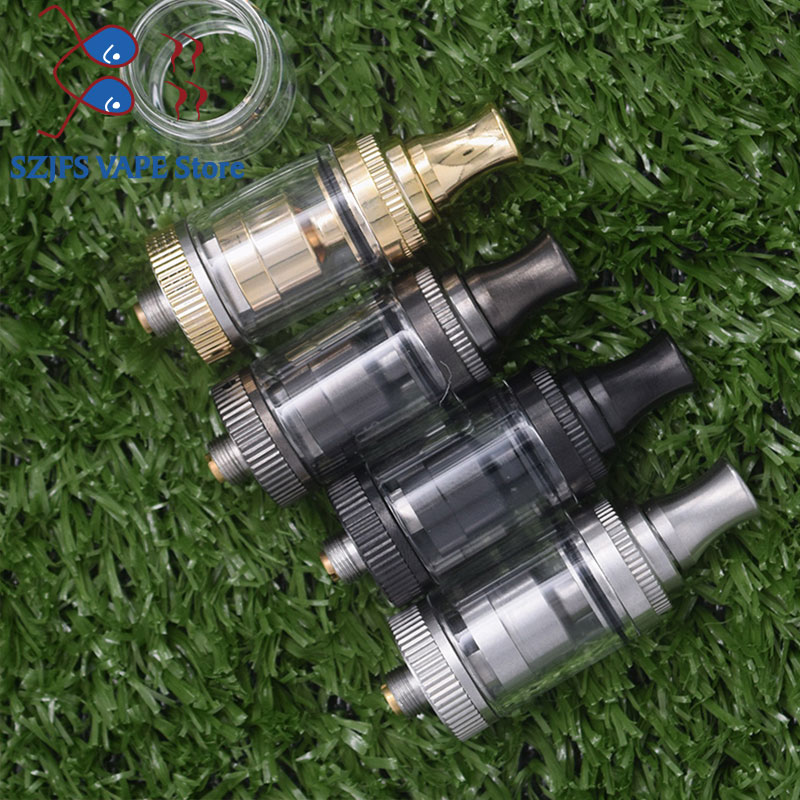 SALT RTA Atomizer Tank 2ml/3.5ml Adjustable Airflow Bubble Glass Tube Vape Vaporizer 18mm Diameter Single Coil 5.0 Vs Gtr Kayfun