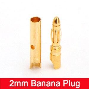 Mince 2MM fiche banane (court) 20A 7U épais connecteurs de placage d'or bornes bricolage accessoires de modèle