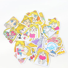 1 Pcs Maan Meisje Briefpapier Sticker Mini Sticker Decoratie Diy Scrapbooking Sticker Briefpapier Kawaii Dagboek Label Sticker(China)
