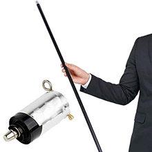 Novo fantástico durável silencioso leve truques cana bastão telescópico em auto-defesa vara prata 1.5 metros