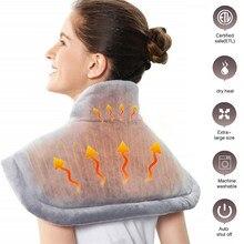 Elektrische Heizung Pad Wärmer Beheizt Matte Große Thermische Decke Schulter Neck Zurück Heizung Schal Wrap Schmerzen Relief Temperatur