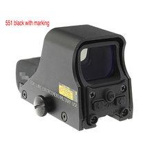 Tactique 551 552 553 point rouge et vert, portée holographique, fusil de chasse, réflexe de vue adapté au Rail de 20mm