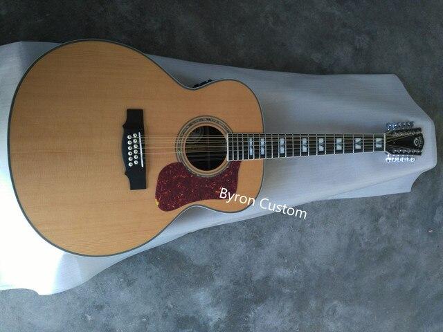 Livraison gratuite nouveau abordable jumbo 12 cordes F512 12 cordes acoustique électrique guitare solide style guilde guitare