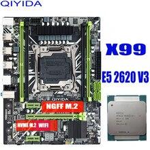 X99 материнская плата с XEON E5 2620 V3 комбо памяти набор NVME USB3.0 MATX сервер DDR4 материнская плата комплект