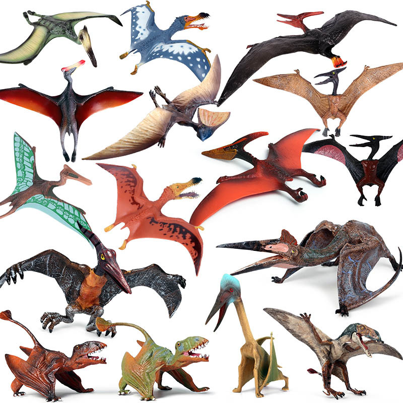 18 Kinds Simulation Pterosaur Figure Collectible Toys Dinosaur Animal Action Figures Kids Movable Toy