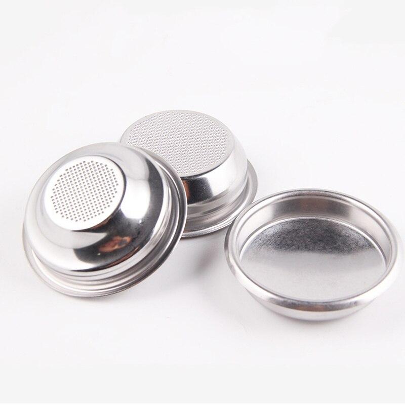 Корзина из нержавеющей стали для кофе под давлением 51 мм/58 мм, аксессуары для кофемашины эспрессо, двойная чаша 18 г