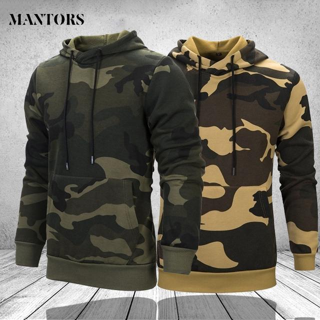 Camouflage Mens Hoodies Fleece Winter Spring Harajuku Japanese Streetwear Hip Hop Sweatshirt Men Women Army Green Khaki Hoodie