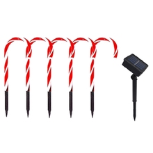 Candy Cane Solar Light 1 Tow 4 Outdoor Flash Home Activity C