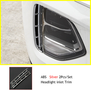 Image 5 - Headlight anti fog Kit headlights air intake trim chrome style exterior accessories for Hyundai Santa Fe Santafe IX45 2019 2020
