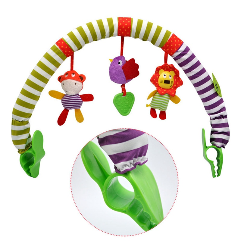 Baby Play Rattles Bed Clip Hanging Bell Toys Pendant Music Stroller Car Seat Cot Hanging Travel Newborn Infant Baby Toys
