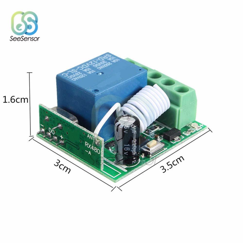 315MHZ 433MHz تيار مستمر 12 فولت 10A 1 قناة 1Ch اللاسلكية التتابع RF التحكم عن بعد التبديل وحدة الاستقبال المتغاير