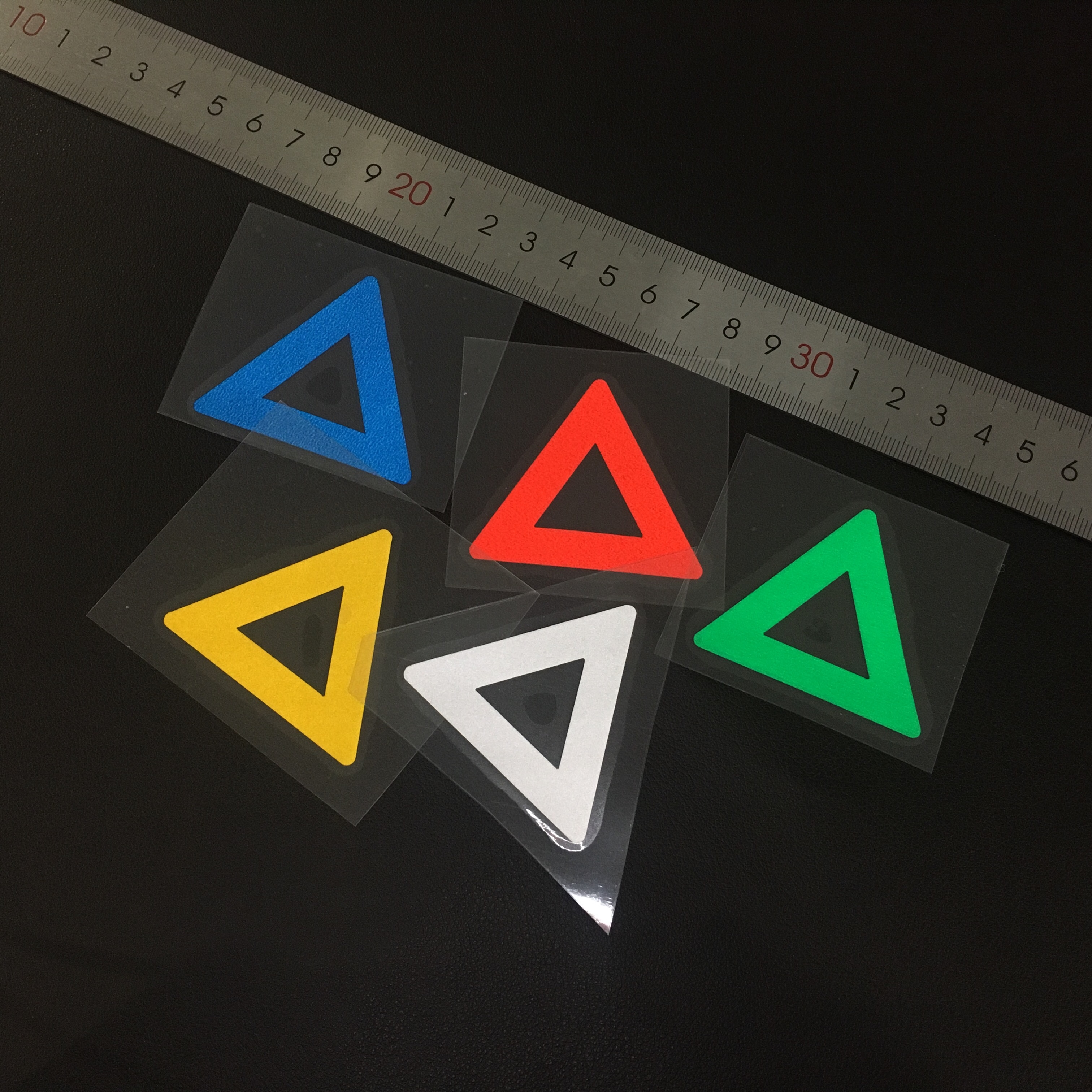 GalonDeco Triangle Reflective Motorcycle Stickers Bike Safety Warning Mark Sticker Helmet Decal Car Sticker Car Styling