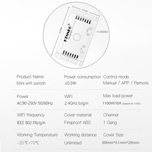 Image 3 - TUYA 433Mhz 10A 90 250V 1 כנופיית wifi ו שלט רחוק מתג, בית סט, חכם חיים APP, עיתוי, עיכוב שלט רחוק עם מעמד