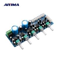 AIYIMA NE5532 7.1 مكبر للصوت بورد Preamp التحكم في مستوى الصوت 8 قناة منخفضة تمرير تصفية التحكم في مستوى الصوت ل 7.1 المسرح المنزلي