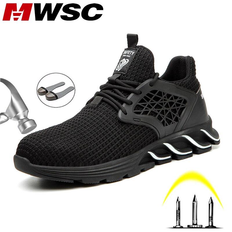 MWSC/безопасные рабочие ботинки; обувь для мужчин; Новинка 2019 года; дизайнерские рабочие ботинки со стальным носком, не разбивающиеся; Мужская...