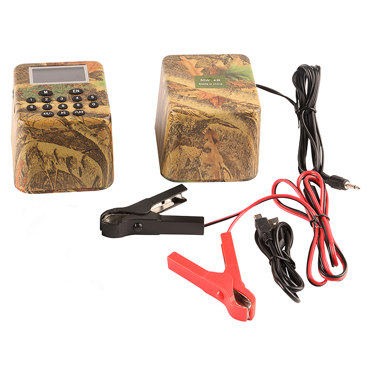 PDDHKK 2pcs 50W Electric Hunting Decoy Support Timer ON/OFF Speaker Bird Caller Sound MP3 Player Without Remote Controller