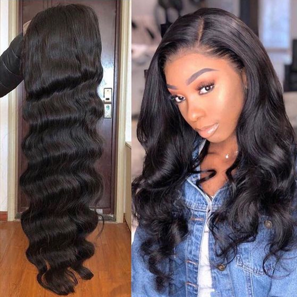Beaudiva Hair 4x4 Lace Closure Wigs Human Hair Brazilian Body Wave Lace Wigs For Black Women Pre Plucked With Baby Hair