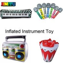 1 шт. необычный инструмент надувные игрушки Гитара микрофон радио надувная клавиатура барабан для детей Карнавальные вечерние украшения пляжа