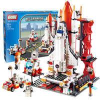 Legoinglys espaço cidade o shuttle lançamento centro 679 pçs tijolos bloco de construção brinquedos educativos para crianças presente 8815