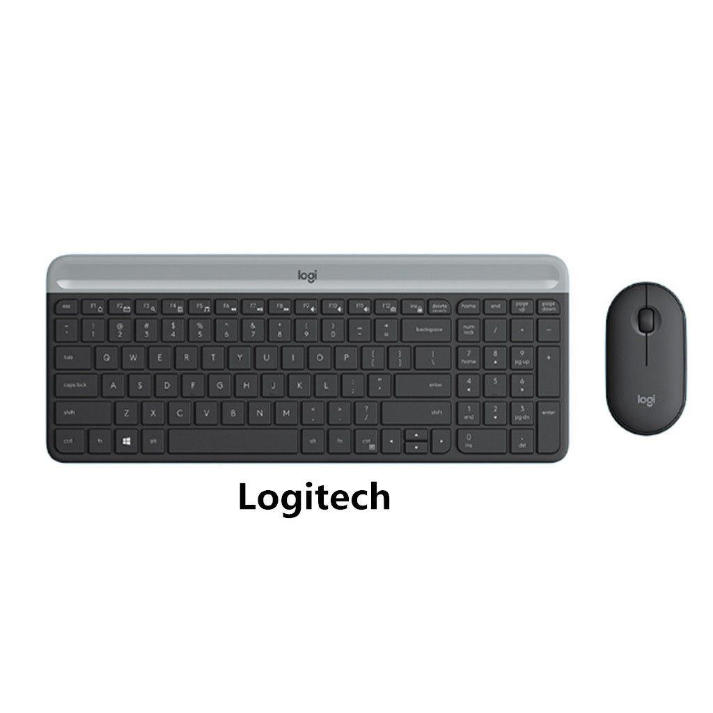 Logitech MK470 Slim 2.4G Ultra-thin Silent Set of Wireless Keyboard and Mouse Combo Low Profile for PC Windows 10/8/7 19Sep24