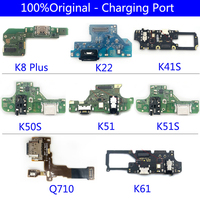 Cable flexible para puerto de carga de LG, conector USB Original de 100%, para K22, K51, K51S, K61, K41S, K50S, Q7, Q610, Q710, MS, k8 Plus