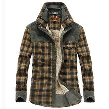 Winter Jacket Men Thicken Warm Fleece Jackets Coats Pure Cotton Plaid Jacket Military Clothes Men Chaquetas Hombre Size M-3XL