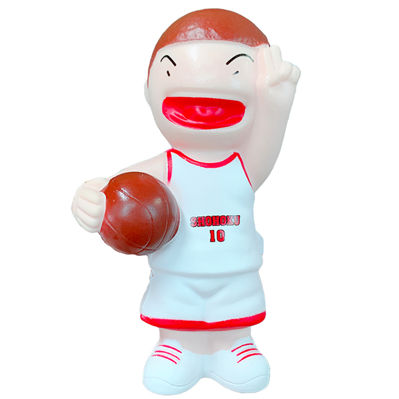 Jumbo SLAM DUNK Squishy Toy Slow Rising Kawaii Cartoon Doll Simulation Soft Squeeze Stress Relief Funny For Kid Xmas Gift Toy