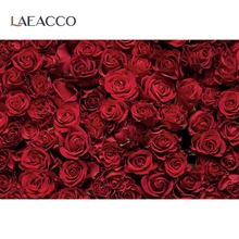 Laeacco Rose Flowers Wedding Birthday Party Love Decor Pattern Photographic Background Photo Backdrops Photocall Photo Studio