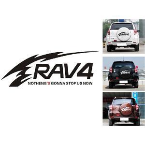 Image 5 - Auto Aufkleber Reflektierende Rav4 Ersatz Reifen Aufkleber Zurück Reifen Aufkleber Reserverad Abdeckung Decals Für Toyota