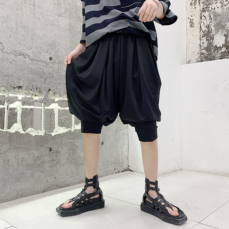 Harem Pants Clothing Trousers Lantern Men's Fashion New Catwalk Singer-Costumes Hair-Stylist