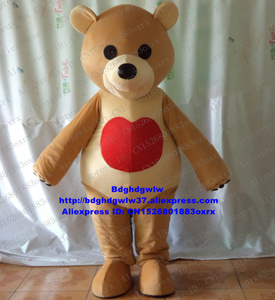 Brown Care Bear CareBear Mascot Costume Adult Cartoon Character Outfit Suit Client THANK YOU Party Take Group Photo zx2408(China)