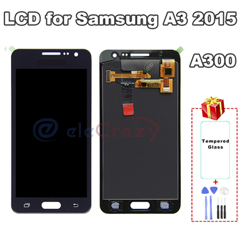 100% tested For SAMSUNG Galaxy A3 2015 A300 A3000 A300F A300M LCD Display with Touch Screen Assembly Replacement AAA TFT Quality 100% tested aaa quality for samsung galaxy a5 2015 a500 a500f a500m replacement lcd display with touch screen digitizer assembly